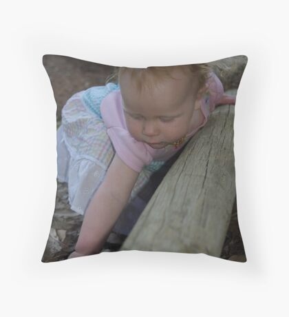 Picking Grass and Leading Lines Throw Pillow