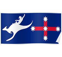 New Australian Flag Design AFL5 Poster