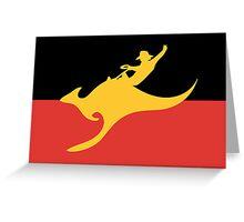 New Australian Flag Design AFL8 Greeting Card