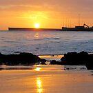 Burnie Beach Sunrise by Paul Campbell  Photography