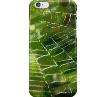 Spiderweb in the Early Morning Dew iPhone Case iPhone Case/Skin