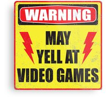 Gamer Warning Metal Print