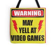 Gamer Warning Tote Bag