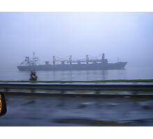 Hudson Tanker Photographic Print
