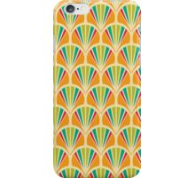 art deco, art nouveau.orange, chic, elegant, girly, green, modern, patterm, red, retro, trendy, vintage, yellow,scallop,fan iPhone Case/Skin