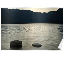 Lake Bohinj at dusk Poster