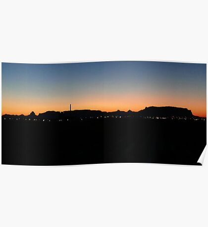 Scottsbluff National Monument at Sunset Poster