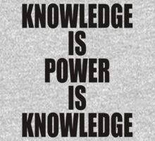Knowledge is power is knowledge by stuwdamdorp