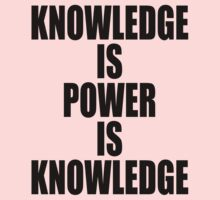 Knowledge is power is knowledge Kids Clothes