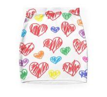 Rainbow Crayola Hearts!  Mini Skirt