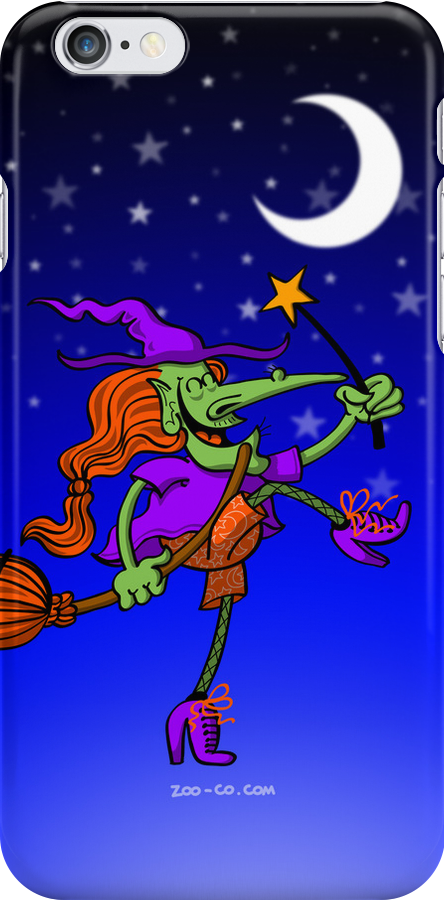 Crazy Witch Dancing with her Magic Wand by Zoo-co