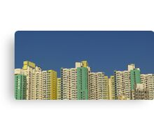 Buildings, Kowloon, Hong Kong Canvas Print