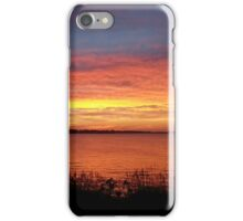 Johnson Lake at Sunset in Central Nebraska iPhone Case/Skin