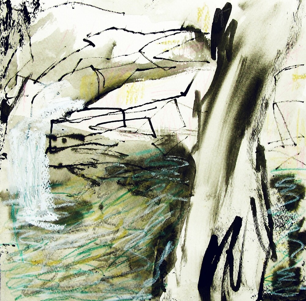 tree, rocks and water by donna malone