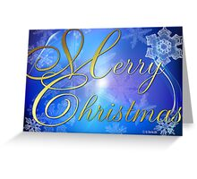 Glowing Snowflakes Christmas Card Greeting Card