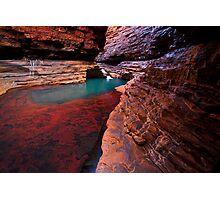 Red Rock Paradise - Kermits Pool - Hancock Gorge - Karijini NP Photographic Print