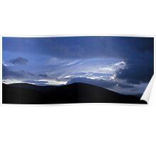 Cloudscape over Cademuir, Peebles, Scotland Poster