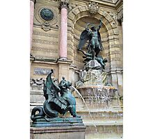 St Michaels Fountain Study 2  Photographic Print