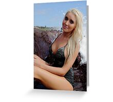 A blond Siren 2 Greeting Card