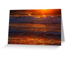 Sunset at Ledge Beach Greeting Card