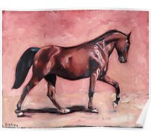 Walking with Purpose II ( horse portrait oil painting) Poster