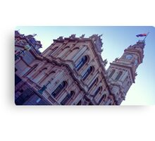 Squeezing it into Frame - Old Town Hall Bendigo with Sunrise Backlight Metal Print