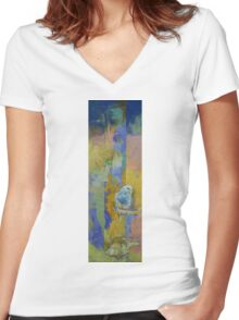 Feng Shui Parakeets Women's Fitted V-Neck T-Shirt