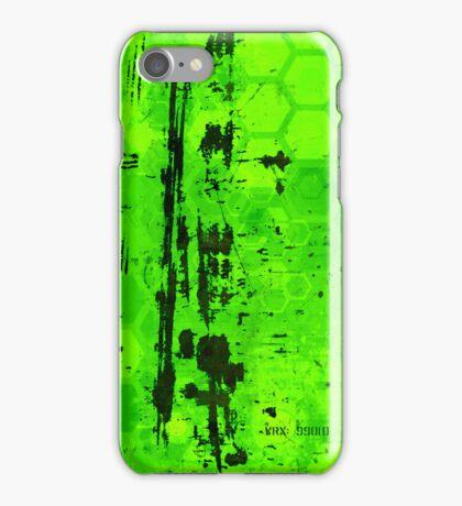 Rusty sci-fi green iPhone Case/Skin