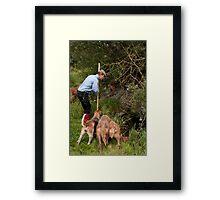 Mink Hunting Framed Print
