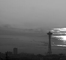 Space Needle Sundown by Rene Fuller