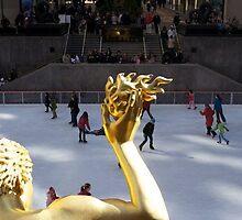 Ice Skating outside Rockefeller Center  by iaain