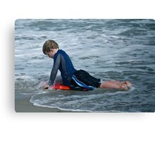 The Red Surfboard  Canvas Print