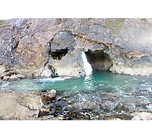 Face in the rocks. Photographic Print