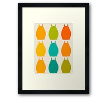 Totoro colors Framed Print