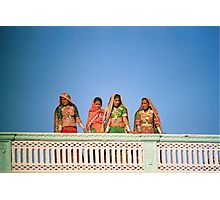 Traditional women at Gujarati Festival  Photographic Print