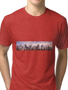 Day city panorama Tri-blend T-Shirt