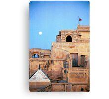 Full Moon Over Jaisalmer Canvas Print