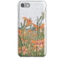 Colored Pencil Lilies iPhone Case/Skin