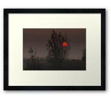Red sun 2 Framed Print