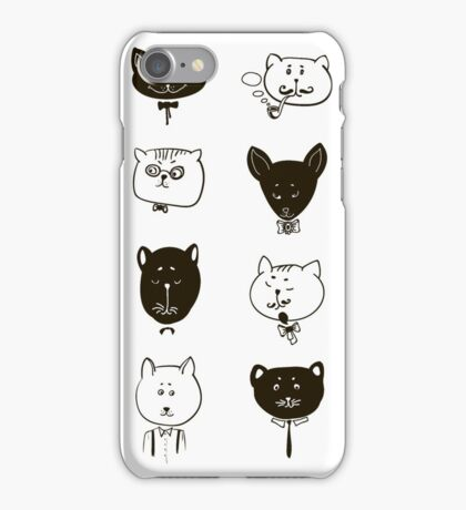 Set of cats heads.  iPhone Case/Skin