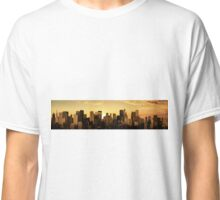Sunrise-sunset city panorama Classic T-Shirt