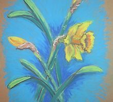 Daffodils in Pastel by Geraldine M Leahy