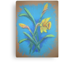 Daffodils in Pastel Canvas Print