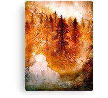 Autumn Dawn....Chinese Brush Painting.. Canvas Print