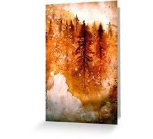 Autumn Dawn....Chinese Brush Painting.. Greeting Card