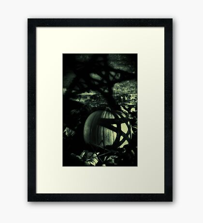 Three is a magic number. Framed Print