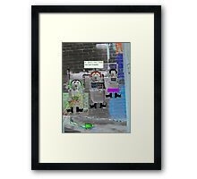 """Captain Kirk :They Don't Look Friendly"""". Framed Print"""