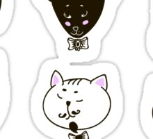 Set of cats heads Sticker