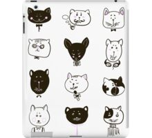 Set of cats heads iPad Case/Skin