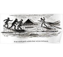 Achille Sirouy Mark Twain Les Aventures de Huck Huckleberry Finn illustration p202 Poster